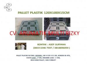 Pallet Plastik 100x120x15 cm Wajid